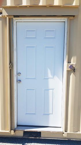 Man door w/ high secure steel slider open
